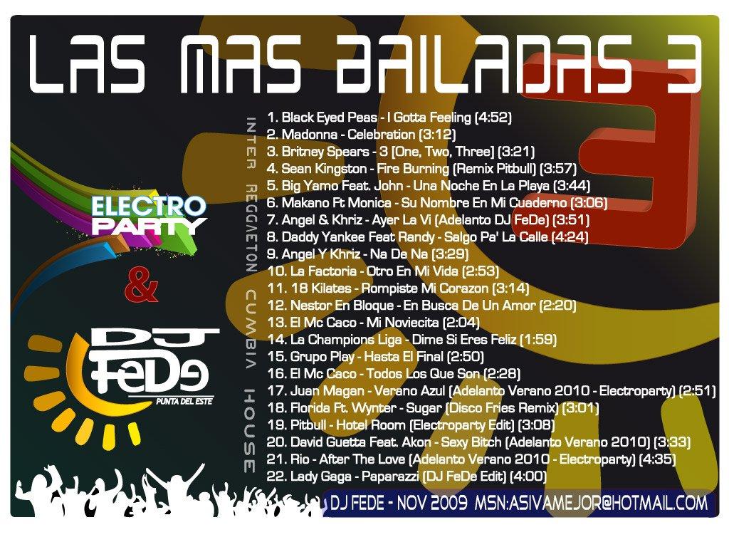 las mas bailadas 3