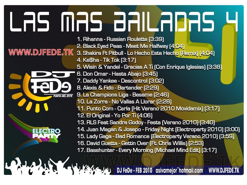 las mas bailadas 4